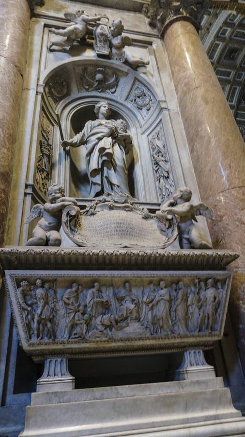 Intern von St- Peter` s Basilika, Rom Italien lizenzfreie stockfotos