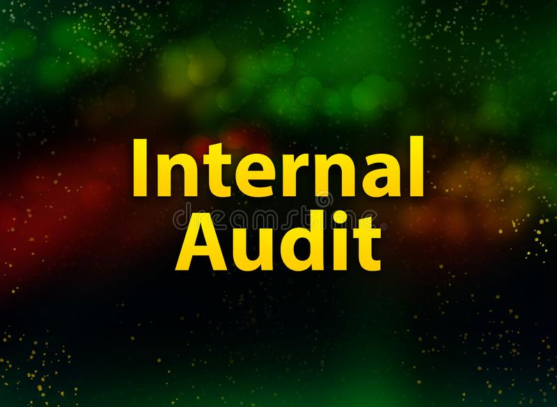 Internal Audit abstract bokeh dark background stock illustration