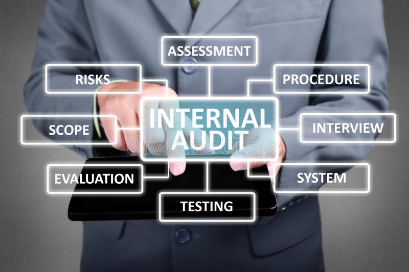 Internal Audit in Business Concept stock photo
