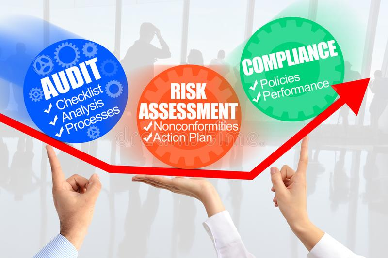Internal Audit Process management stock image