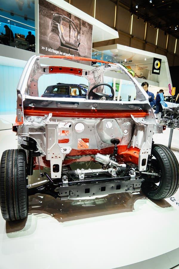Internal Frame Car, Motor Show Geneva 2015. Editorial Stock Image ...