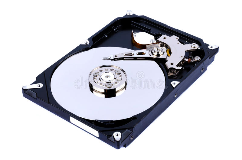 Internal Harddrive. HDD isolated on white background stock photos