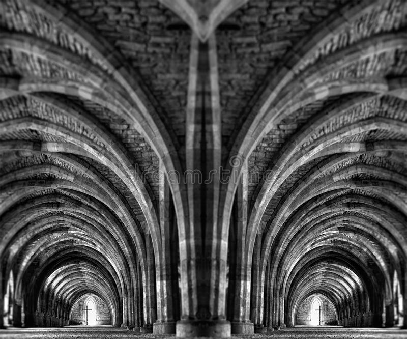 Download Internal Mirror Image Of An Ancient Monastery Stock Photo - Image: 31250070