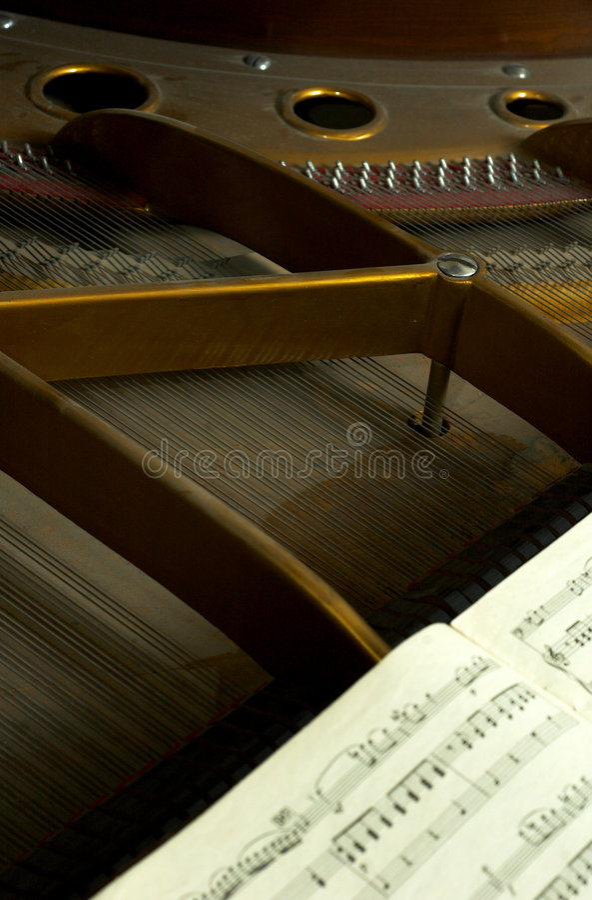 Internal Parts of a Grand Piano