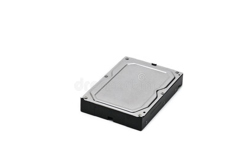 Computer hard disk-hard drive on an isolated background. Internal parts of a hard disk on an isolated white background royalty free stock image