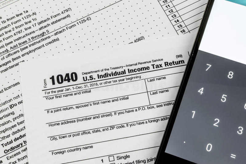 Internal Revenue Service Irs Form 1040 Us Individual Income