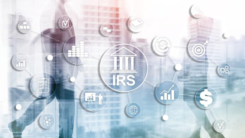 Internal Revenue Service. IRS Ministry of Finance. Abstract Business background. Internal Revenue Service. IRS Ministry of Finance. Abstract Business background royalty free stock image