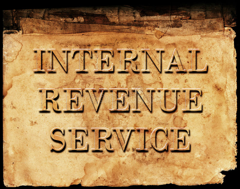 Internal Revenue Service IRS. Sign of Internal Revenue Service IRS for collecting taxes stock images