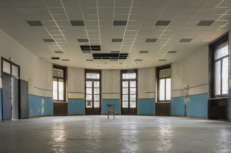 Old abandoned school stock photos