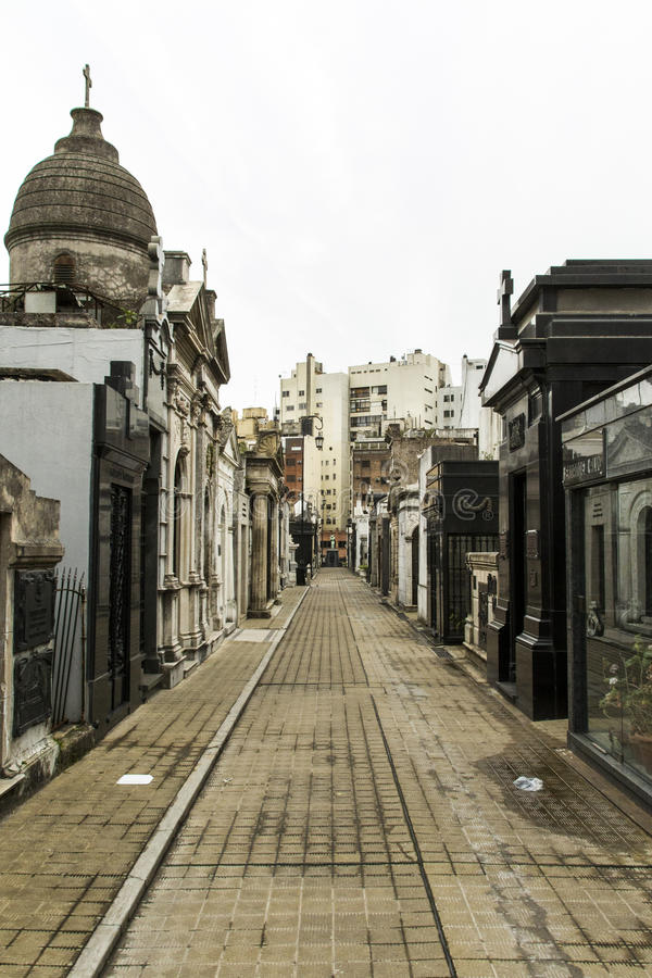 Internal street of Recoleta royalty free stock image