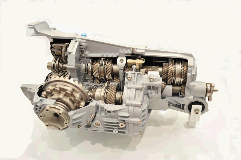 Internal structure of engine. The anatomy picture of engine, its internal structure ist oo complicated stock photo