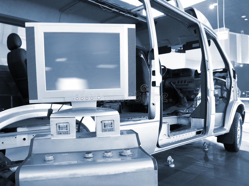 The internal structure of vehicle. The internal structure model of car stock photo
