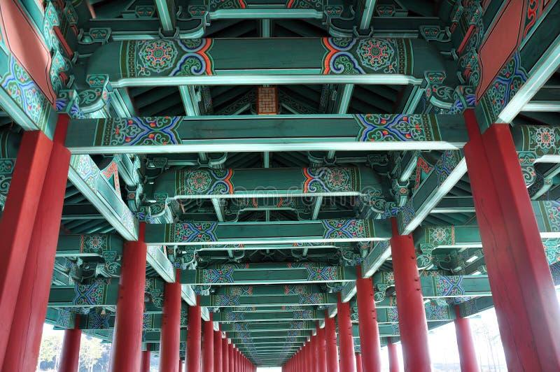 Internal structure of Woljeonggyo Bridge, Gyeongju, South Korea. The internal structure view of the Woljeonggyo Bridge in Gyeongju city, South Korea stock photography