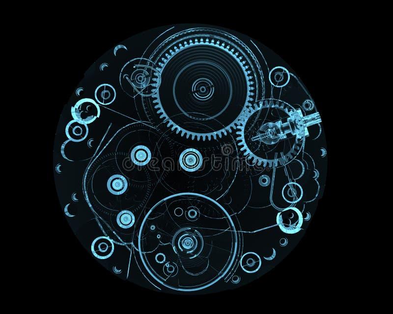 Internals del reloj ilustración del vector