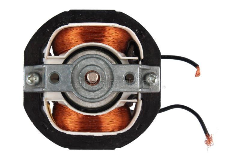 Internals elétricos do motor, isolados no branco imagem de stock royalty free