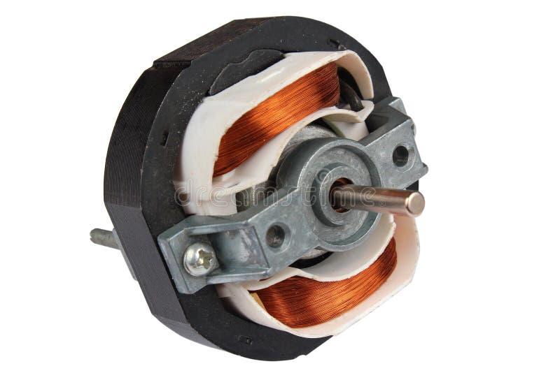 Internals elétricos do motor, isolados no branco fotografia de stock