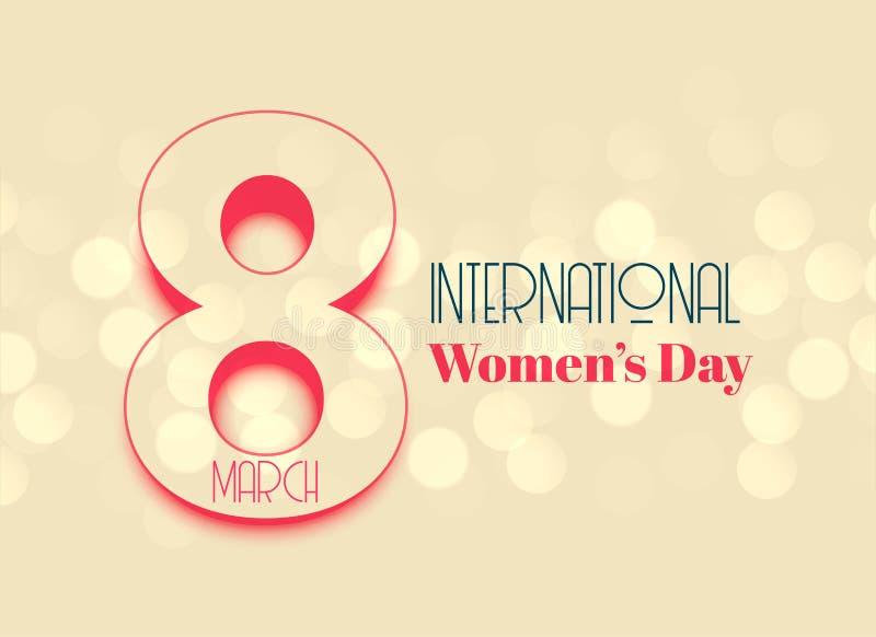 Internation women`s day beautiful background design stock illustration