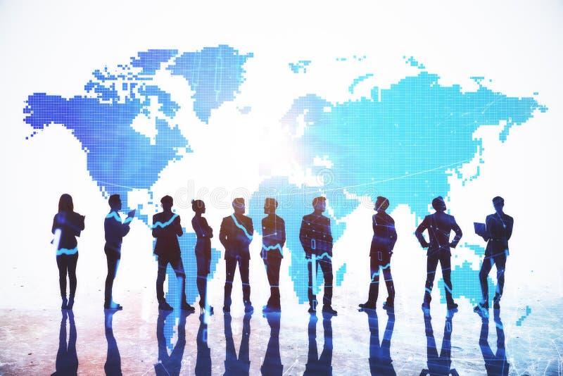 Internationaal bedrijfs en communicatie concept royalty-vrije stock afbeelding