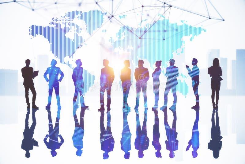Internationaal bedrijfs en succesconcept stock illustratie
