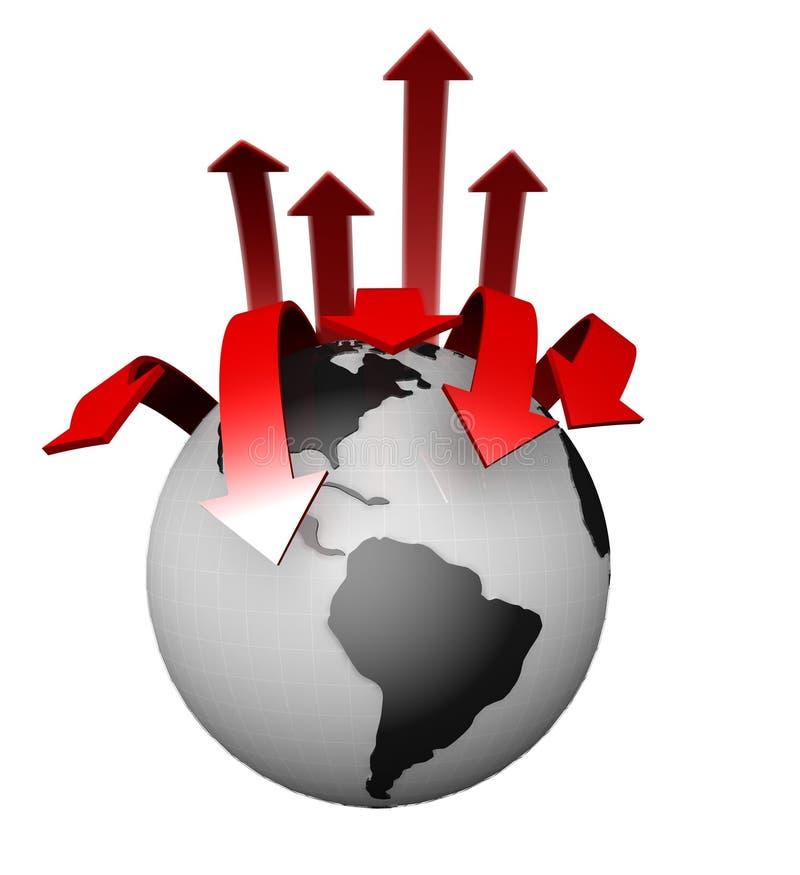 Internationaal BedrijfsConcept Wereldwijd stock illustratie