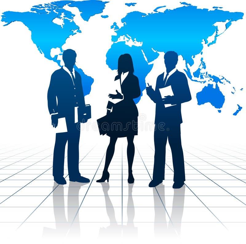 Internationaal Commercieel Team royalty-vrije illustratie
