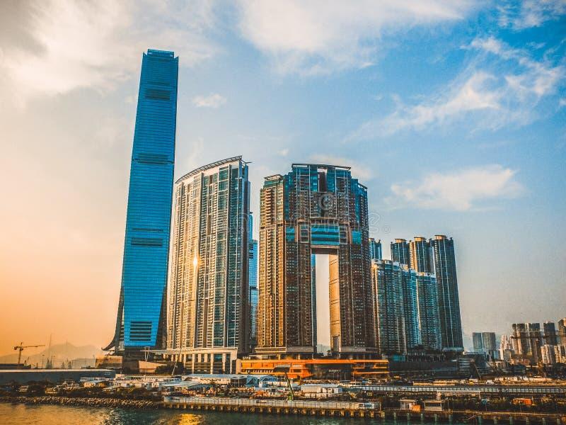 Internationaal de Handelscentrum van Hongkong stock foto