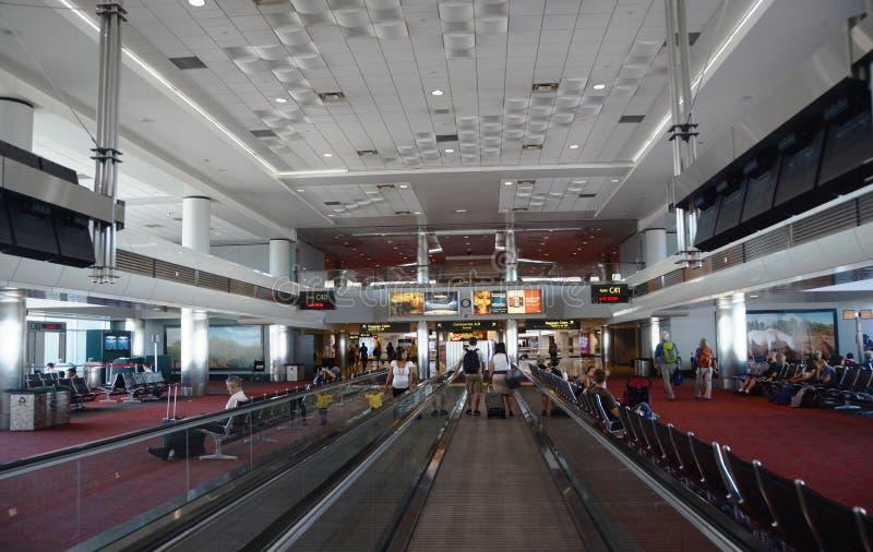 Internationaal de luchthavenbinnenland van Denver stock afbeelding