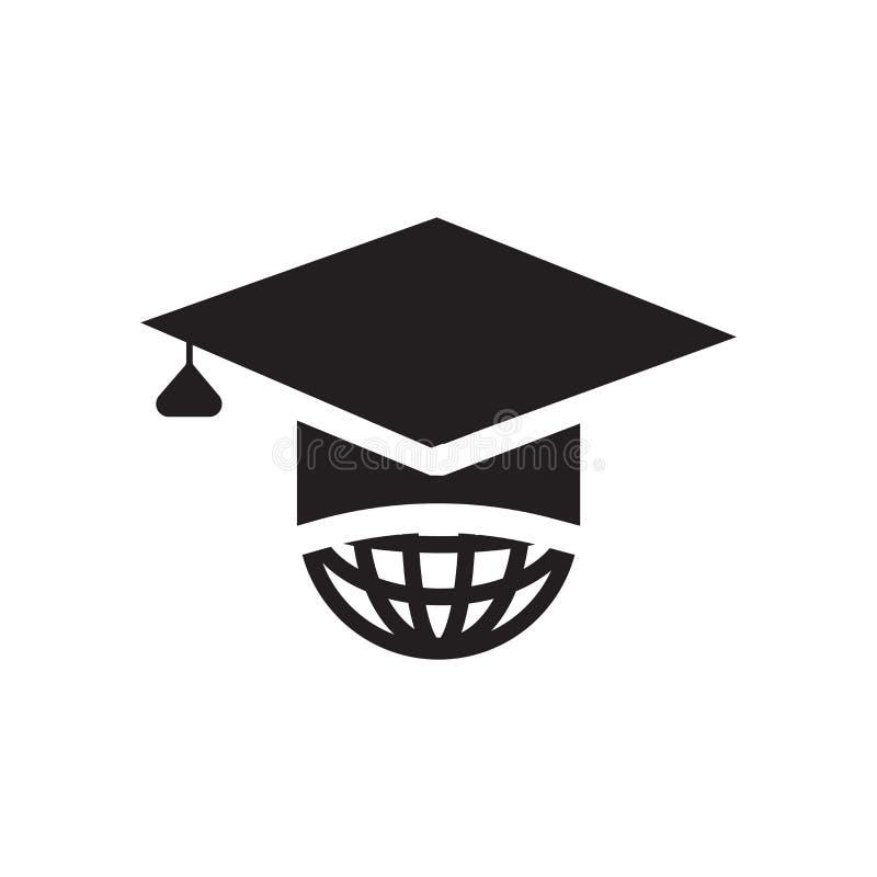 Internationaal gediplomeerd pictogram vectordieteken en symbool op w wordt geïsoleerd royalty-vrije illustratie