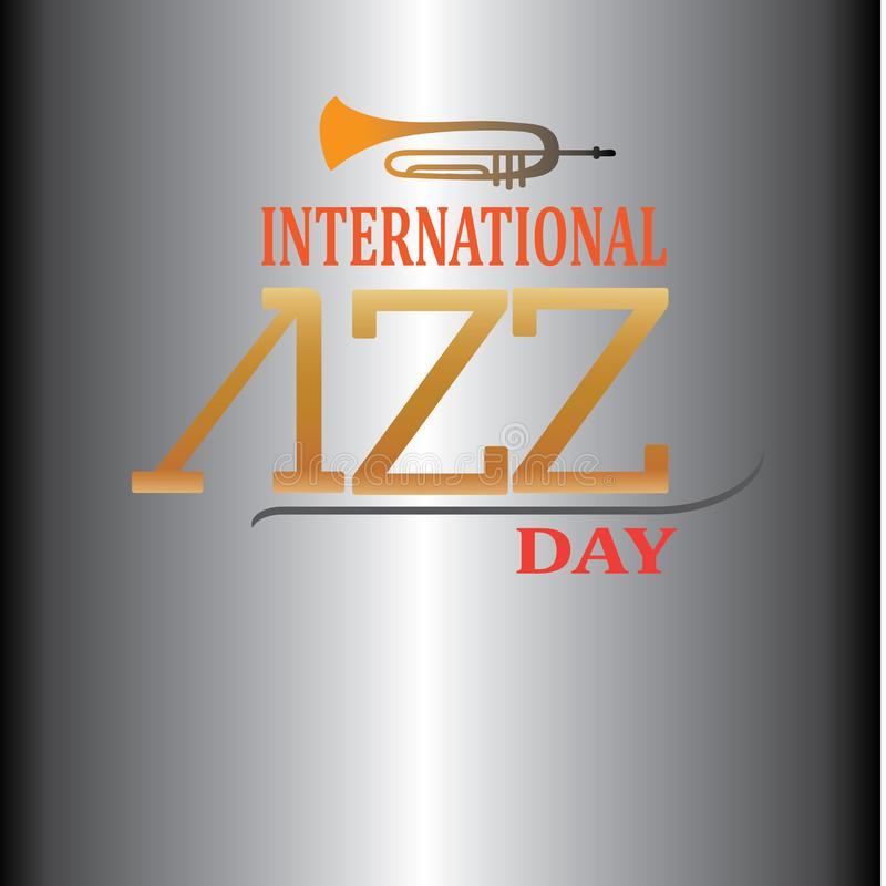 Internationaal Jazz Day Vector Illustration-ontwerp - Het vector royalty-vrije illustratie