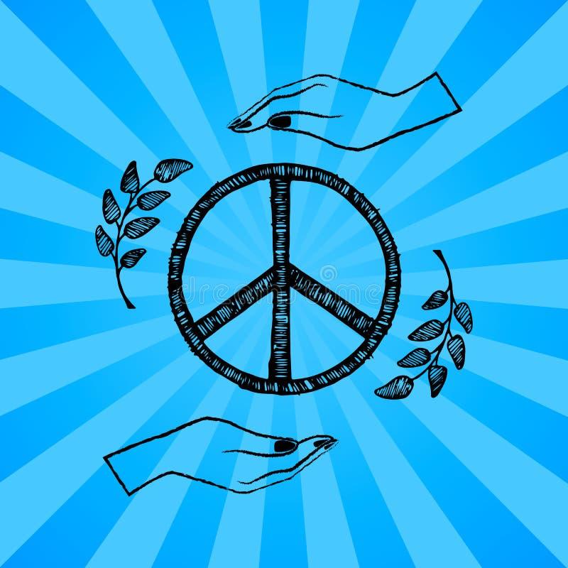 Internationaal Vector de Illustratieblauw van de Vredesdag vector illustratie