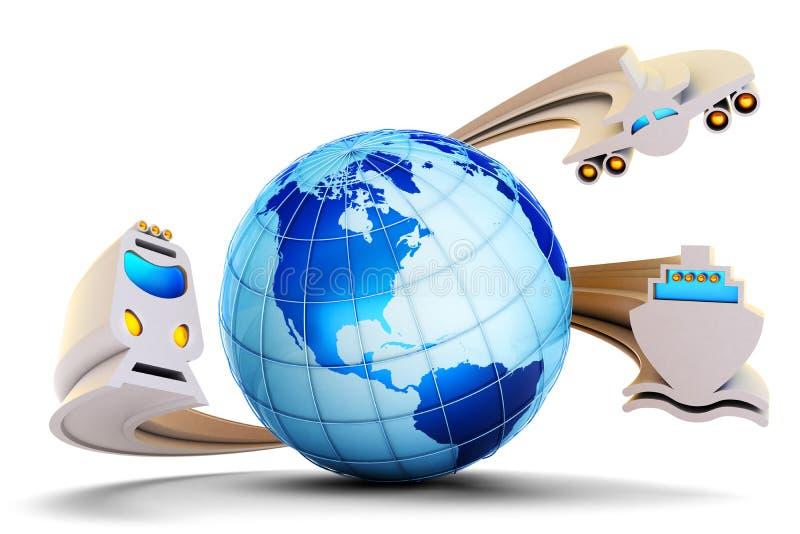 Internationaal vervoersconcept royalty-vrije illustratie