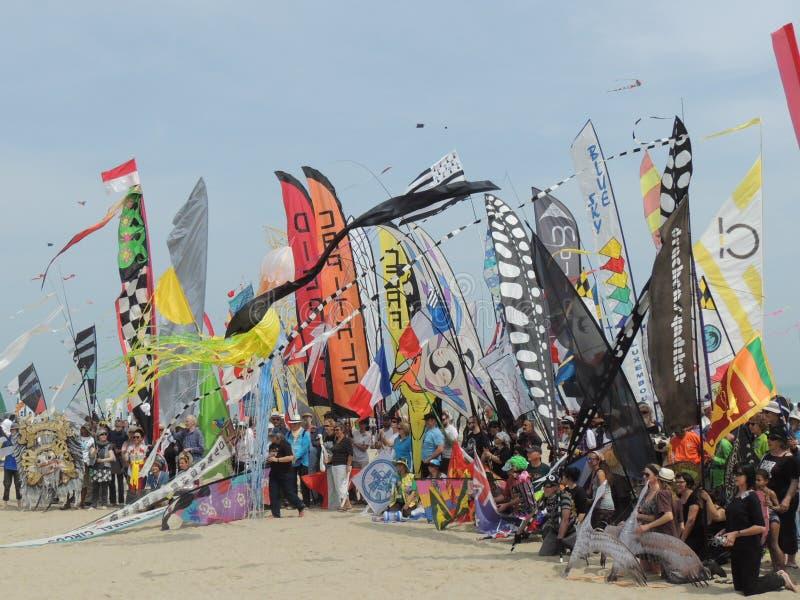 Internationaal Vliegerfestival stock foto's