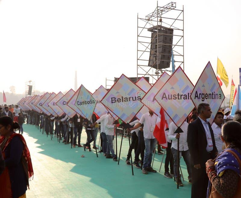 Internationaal Vliegerfestival 2018 - India royalty-vrije stock afbeelding