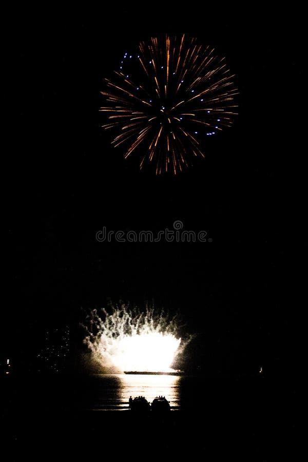 Internationaal Vuurwerk festival 2013 @ Scheveningen - Den Haag royaltyfri foto