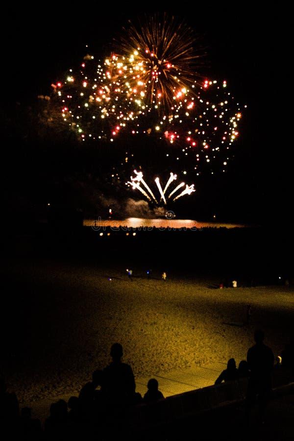 Internationaal Vuurwerk festival 2013 @ Scheveningen - Den Haag arkivbilder