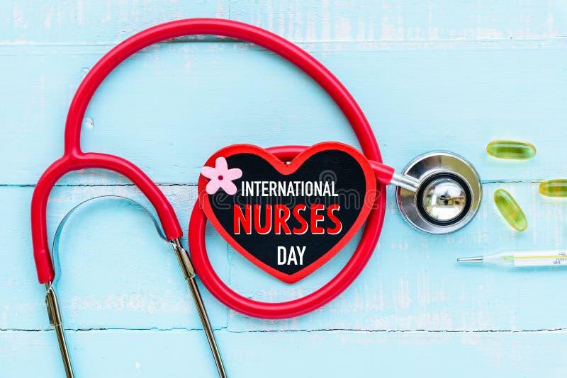 International нянчит день, 12-ое мая Здравоохранение и медицинская концепция стоковое фото