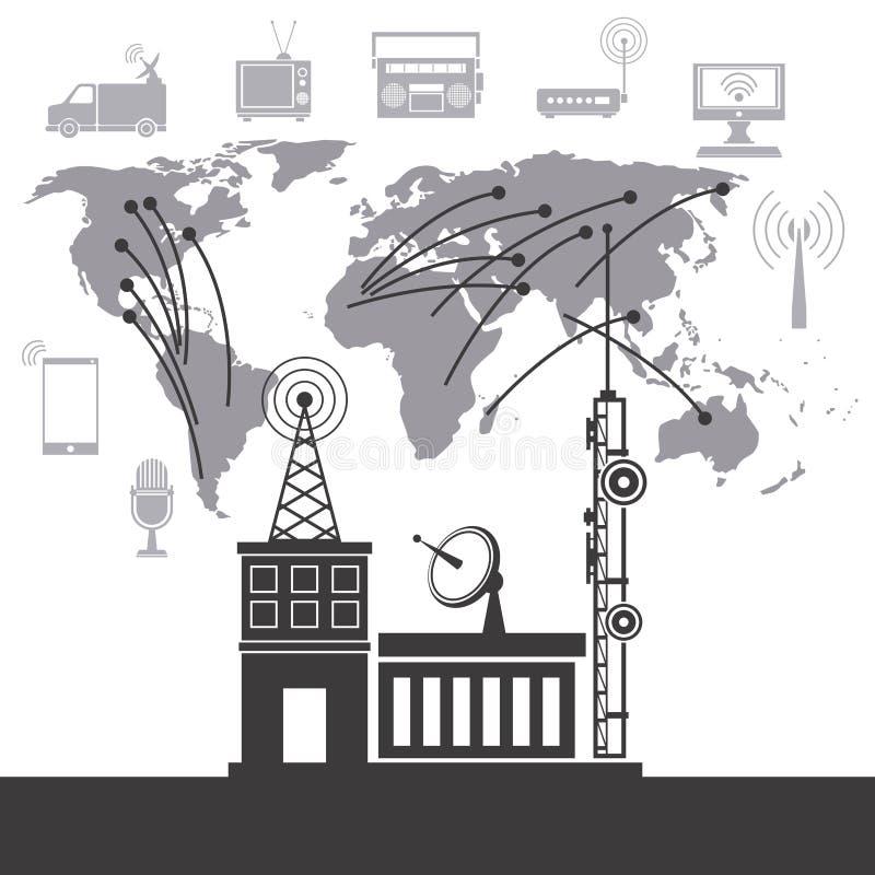 International системного обслуживания Telecomunication иллюстрация вектора