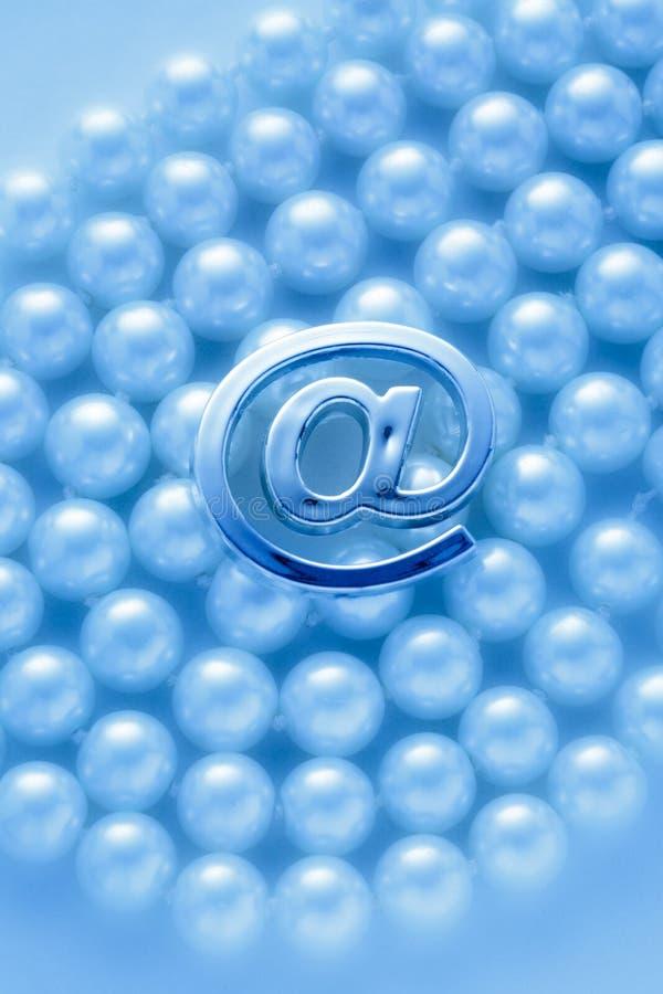 International электронной почты стоковая фотография rf