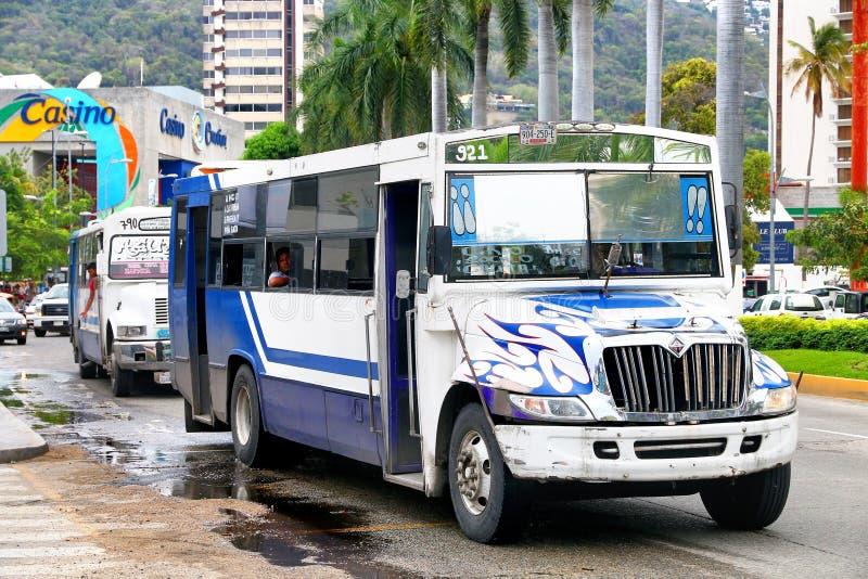 International 3300. Acapulco, Mexico - May 30, 2017: Urban bus International 3300 in the city street stock image