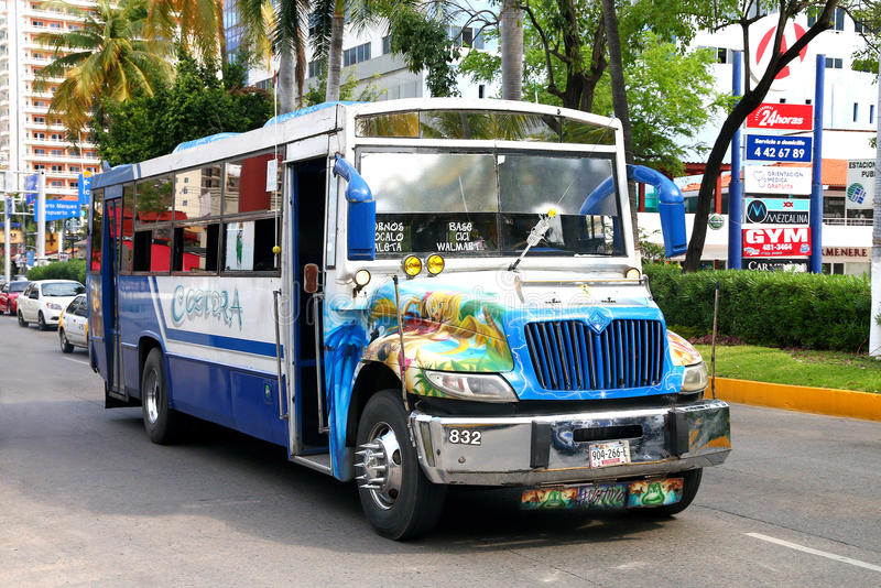International 3300. ACAPULCO, MEXICO - MAY 28, 2017: Urban bus International 3300 in the city street royalty free stock image