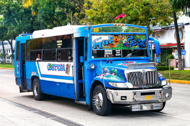 International 3300. ACAPULCO, MEXICO - MAY 28, 2017: Urban bus International 3300 in the city street royalty free stock photography