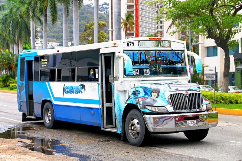 International 3300. Acapulco, Mexico - May 30, 2017: Urban bus International 3300 in the city street royalty free stock images