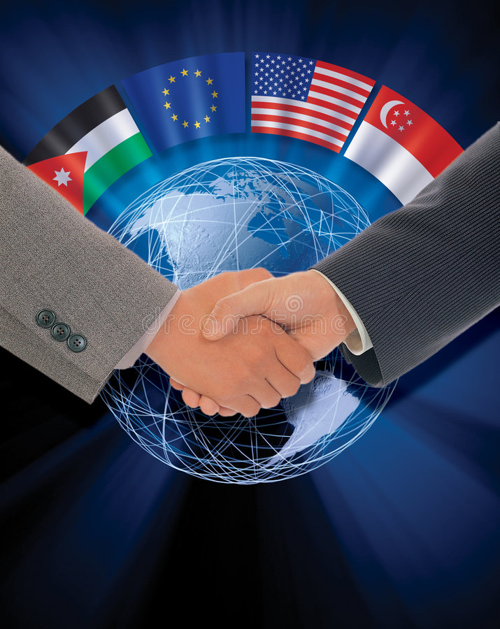 International agreement royalty free stock images