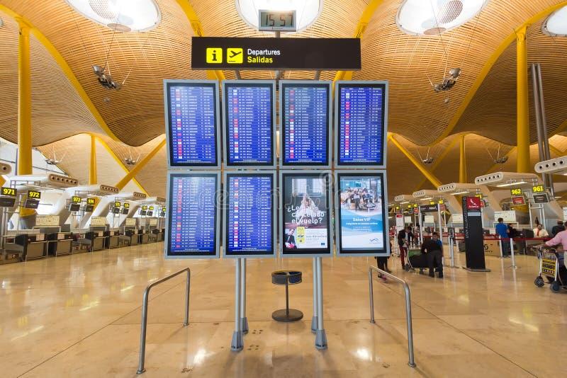 International Airpor de Madrid Barajas imágenes de archivo libres de regalías