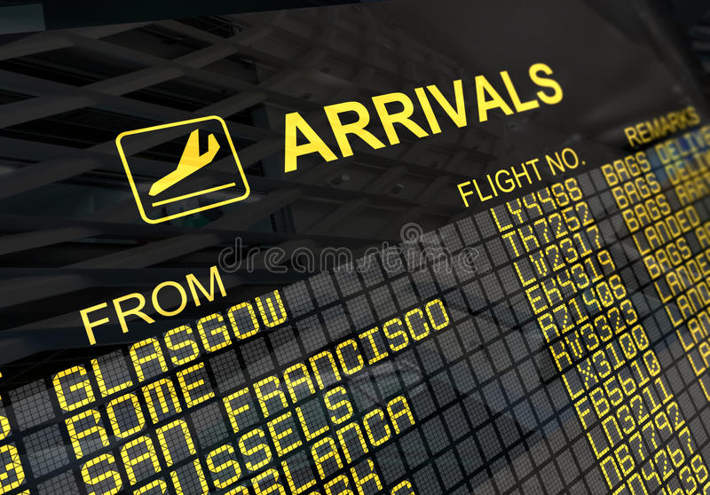 Download International Airport Arrivals  Board Stock Image - Image: 11739973