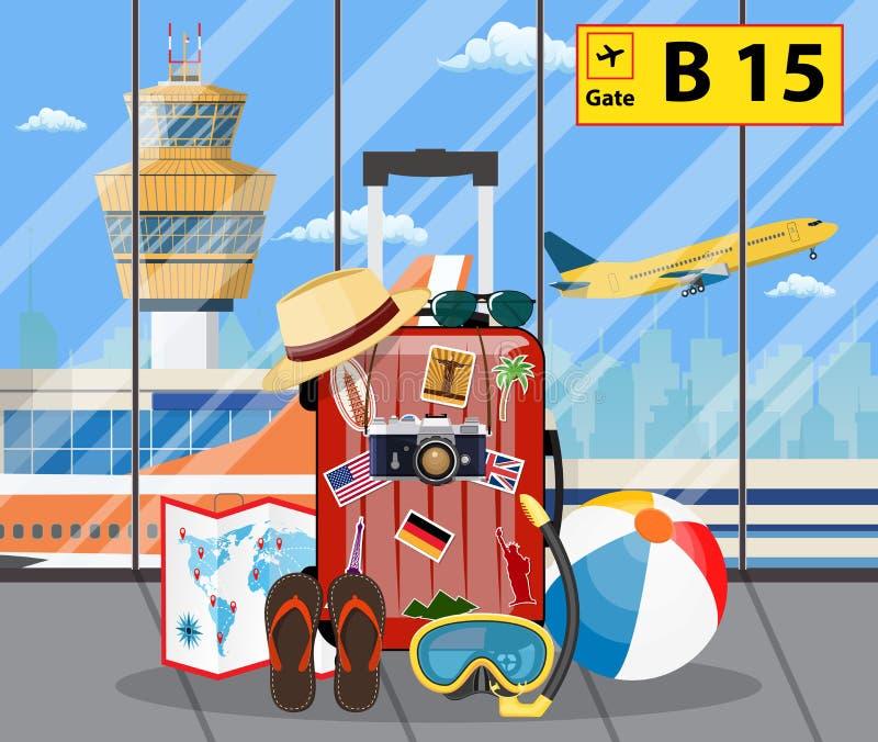 International airport concept. vector illustration