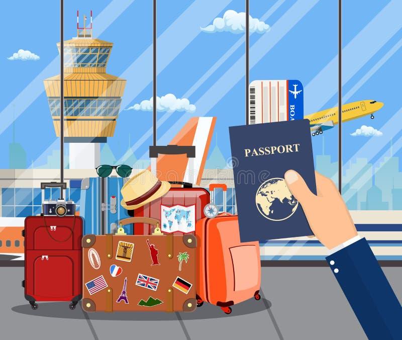 International airport concept. stock illustration