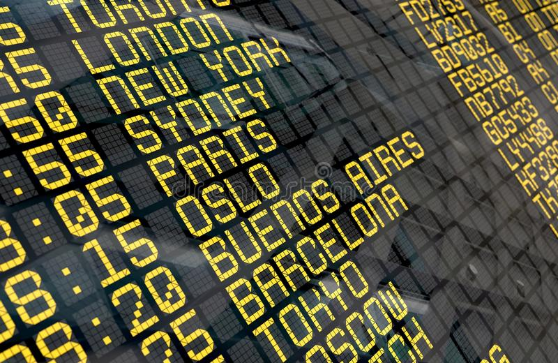 International Airport Departure Board stock photography