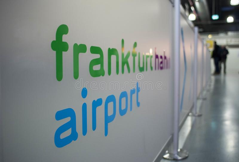 International airport in Frankfurt Hahn, Germany royalty free stock images