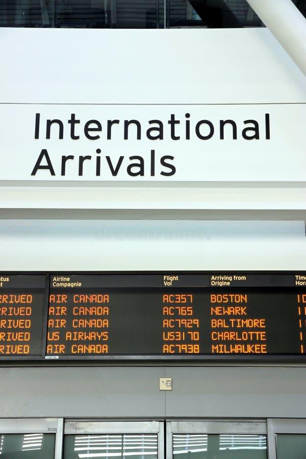 International Arrivals royalty free stock photo